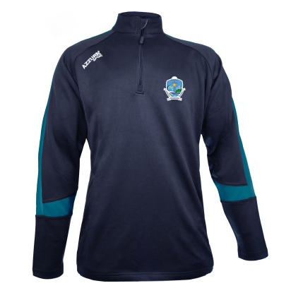Azzurri Crested Navy PE Quarter Zip Top (Unisex)