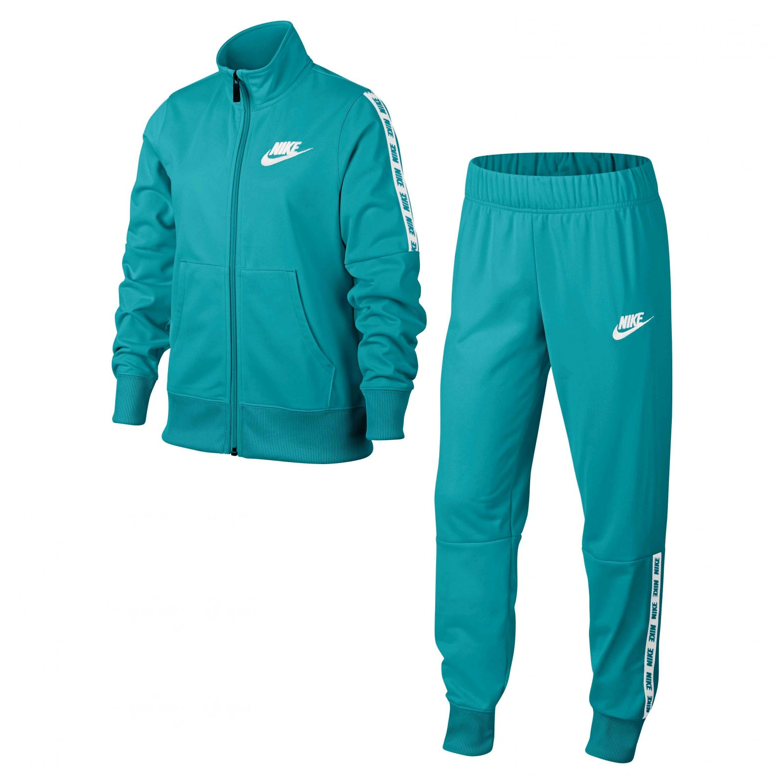 Nike NSW Poly Tracksuit Green-White