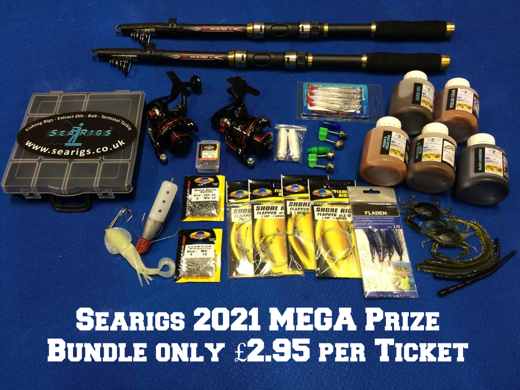 Searigs 2021 MEGA Prize Bundle only £2.95 per Ticket