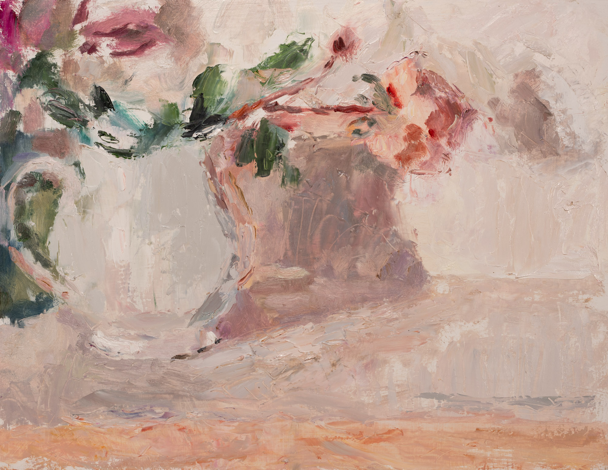 Rose in a White Jug, Oil on Board, 32.6cm x 42.3cm (2019-07) SOLD