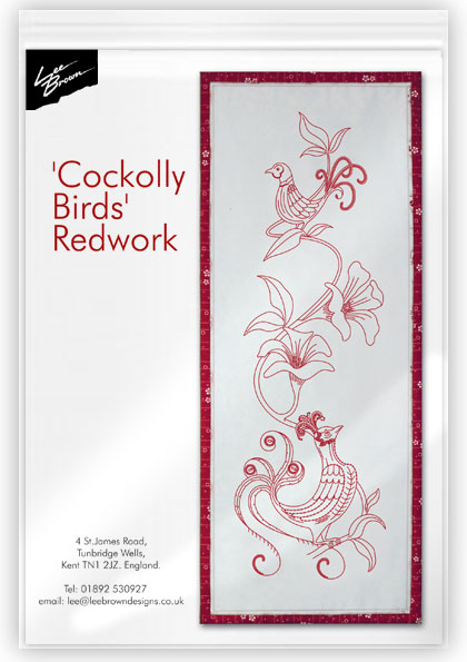Cockolly Birds Redwork