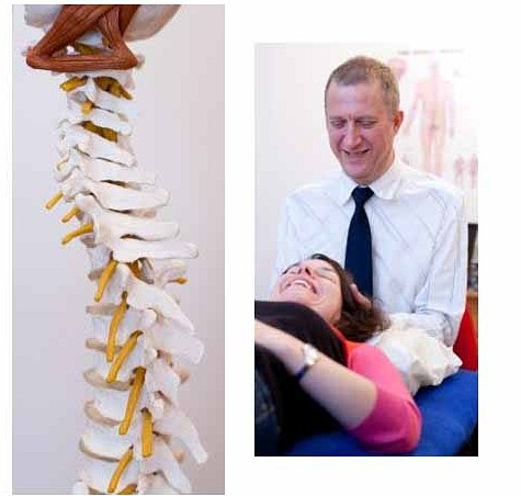 Osteopathy, neck, tension, strain, spine