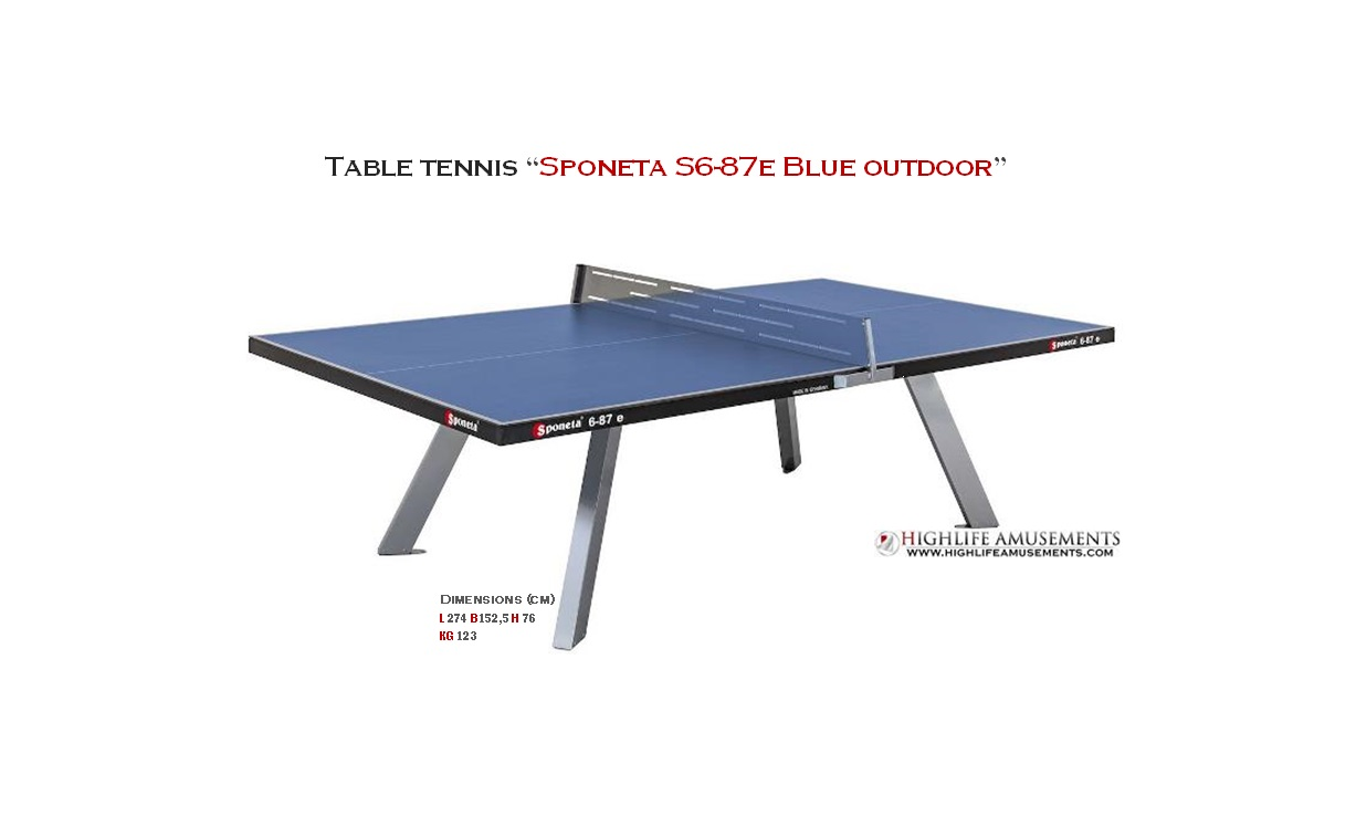 "Table Tennis ""Sponeta S6-87e Blue Outdoor"""