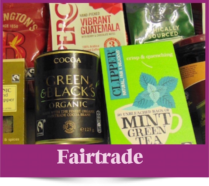 Fairtrade products at Brambles Deli Kirkcudbright