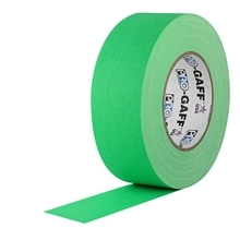 PRO GAFF® - FL Green Fluorescent Gaffer Tape (48mm by 22.8 meter)
