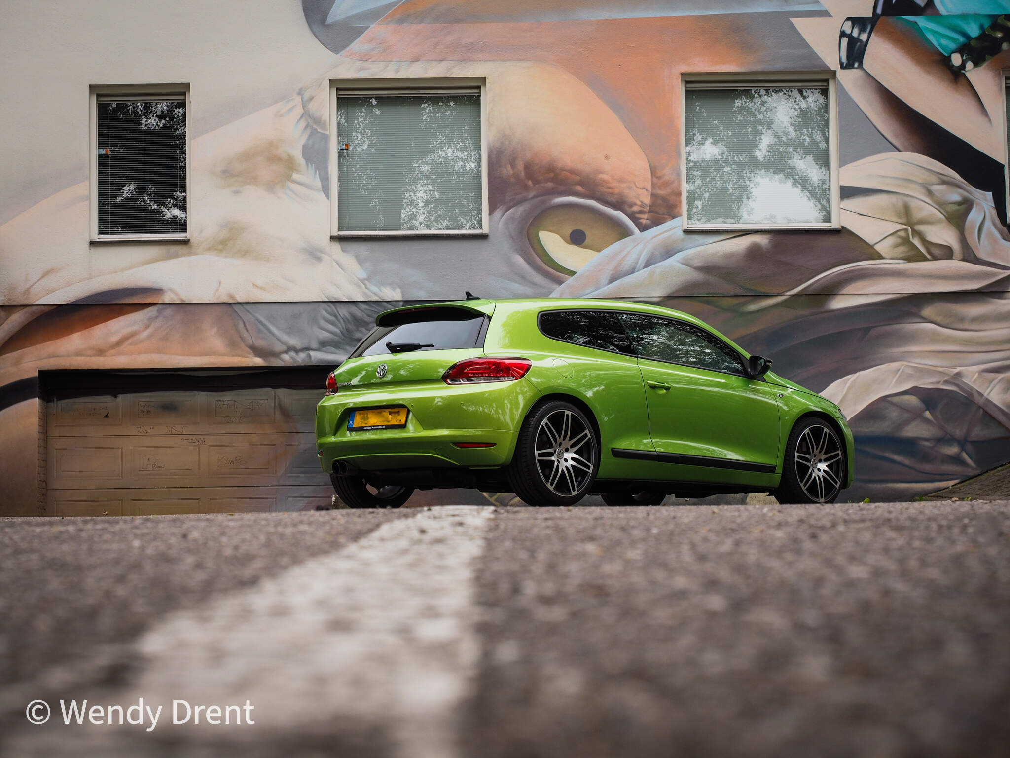 volkswagen scirocco, car, wendy drent, car photography,  fast car, green, gifgroene scirocco