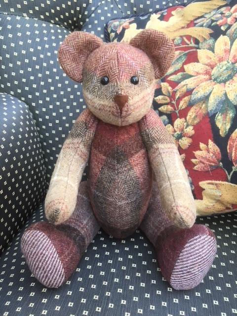 "Fabric Affair: "" Teddy bear kit ""."