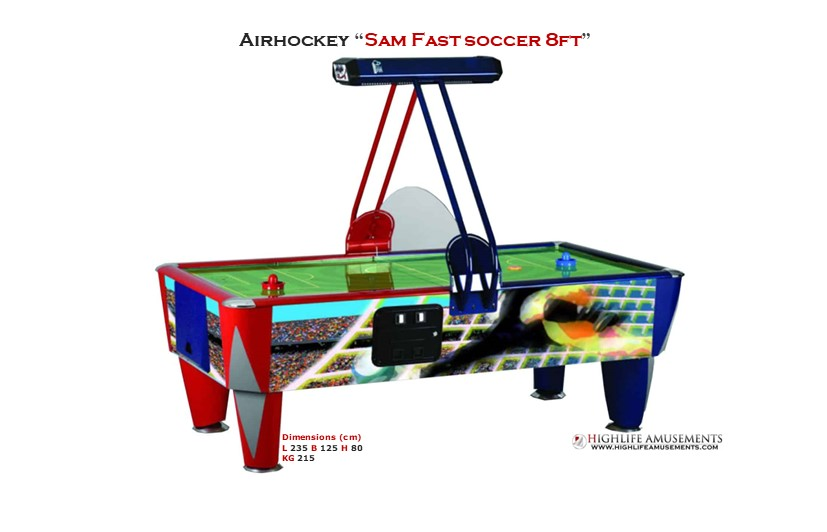"Rental Airhockey Sam ""Fast soccer 8ft"""