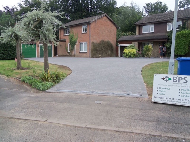 New block paved driveway in Datchet, near Windsor, Berkshire