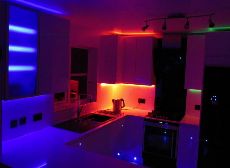 Iceled LED lighting in a kitchen