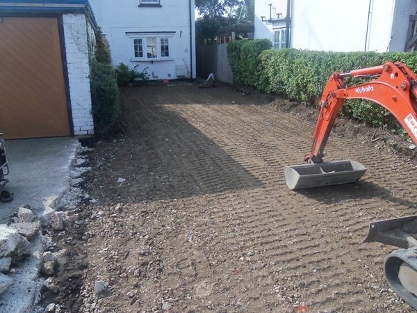Removal of old driveway Byfleet, Surrey