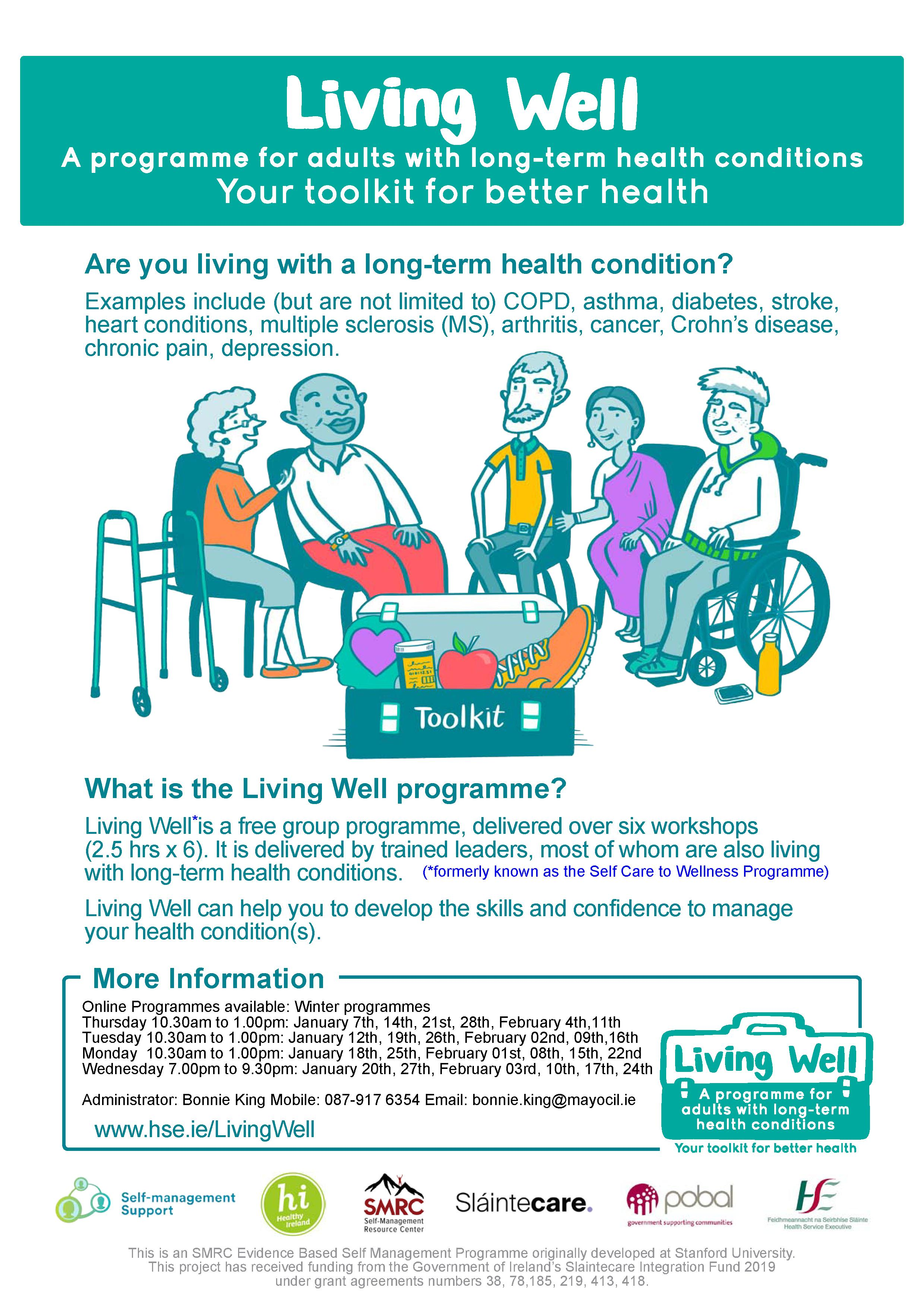 Leap into the New Year with the local HSE Living Well  programme