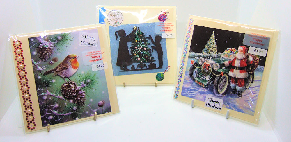 Three handmade Christmas cards - set 2