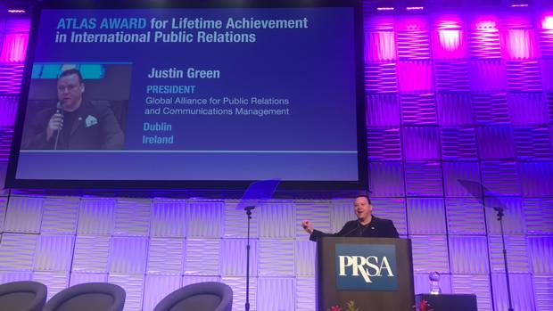 Justin Green recognised for lifetime achievement award at San Diego event