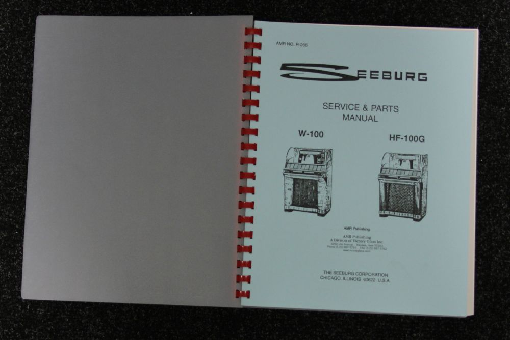 Seeburg - Service and Parts Manual - Model W-100. HF-100G