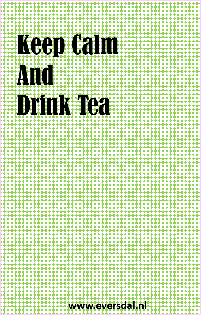 Theekadootje - Keep Calm and Drink Tea