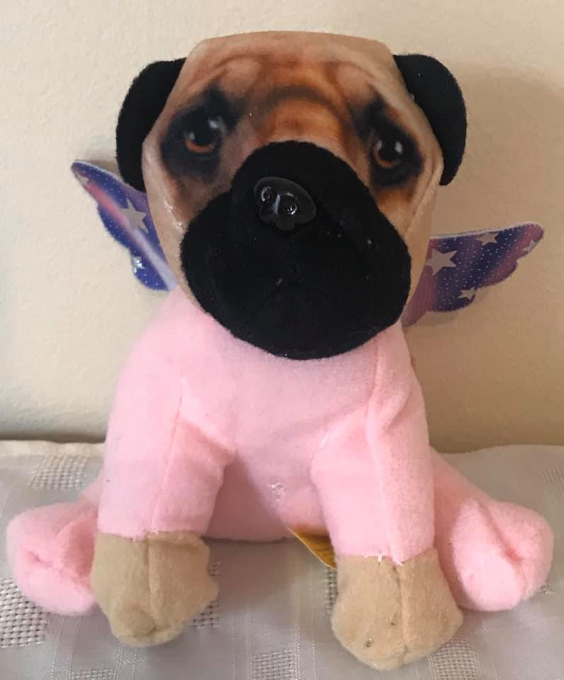 Small Unicorn Pug Plush