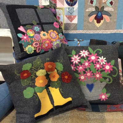 Donegal Tweed by Fabric Affair:' Wellie Boots And Nasturtiums '