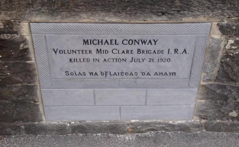 MICHAEL CONWAY IS KILLED ON ENNISTYMON BRIDGE -  20th July 1920