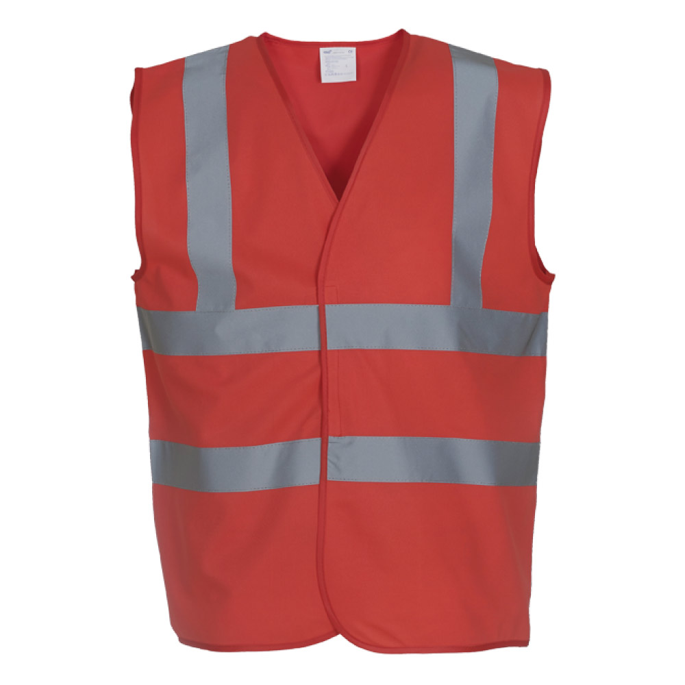 Red Hi Vis Safety Vests