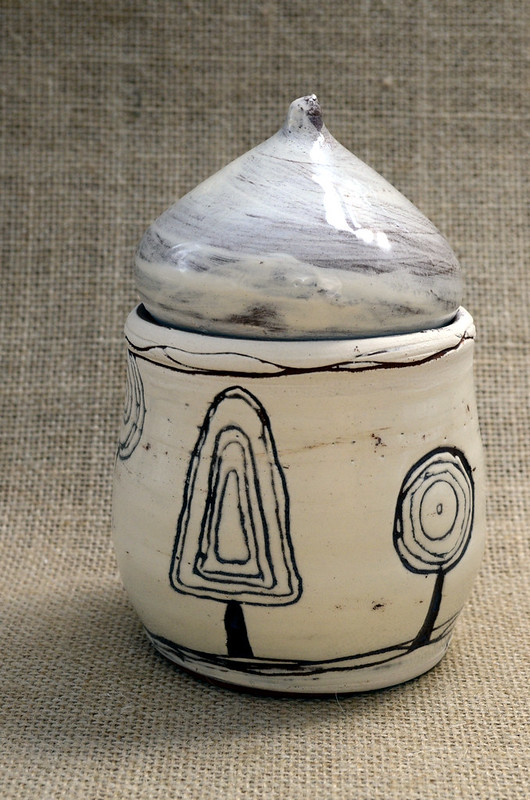 After Hundertwasser, earthenware sgraffito style