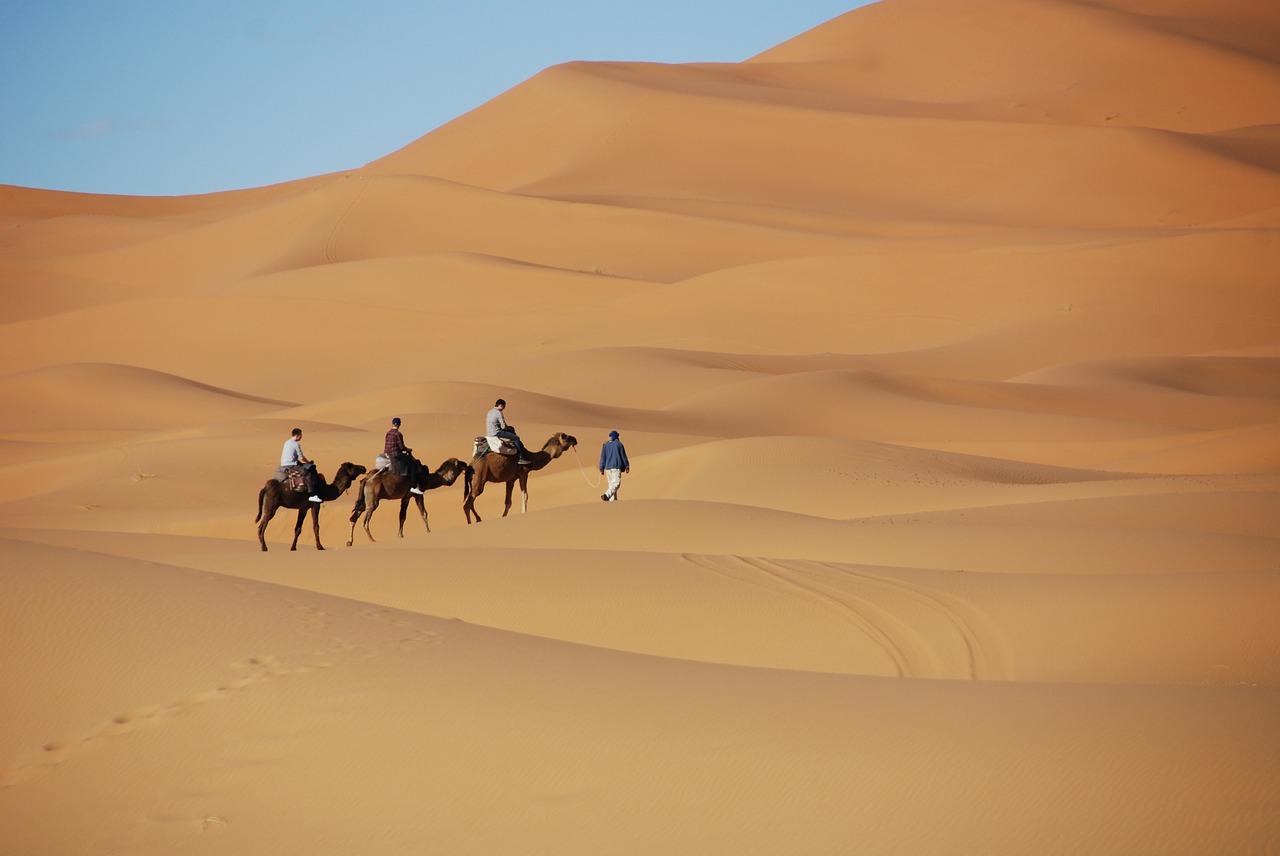 Marokko - Kamelentocht woestijnjpg