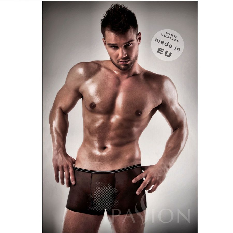 PASSION MEN 025 BOXER NEGRO TRANSPARENTE S/M