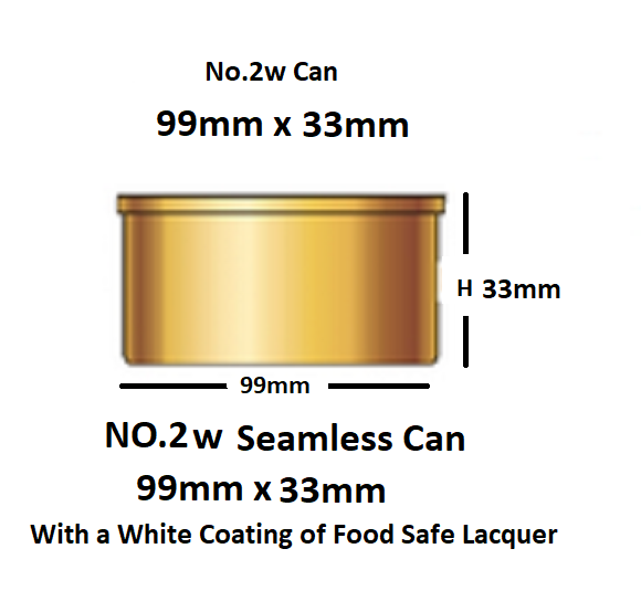 48 In A Box No2w. Tin Can with Lid diameter 99mm x 33mm will Hold 220g