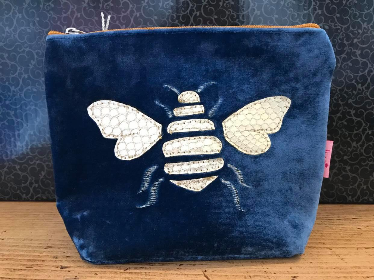 Gold Bee Velvet Purses