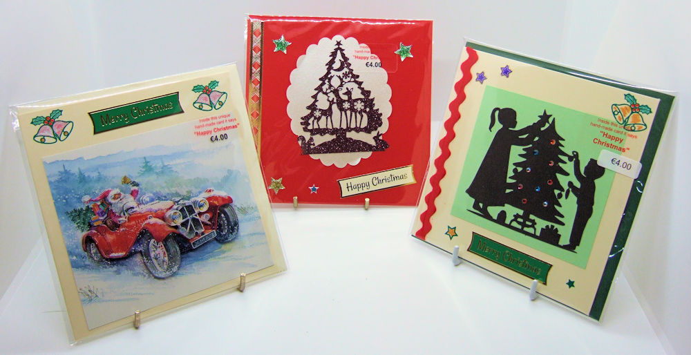 Three handmade Christmas cards - set 4
