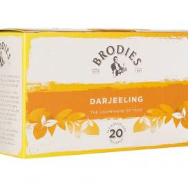 Brodies Melrose Darjeeling. Tag and envelope tea bags 86g