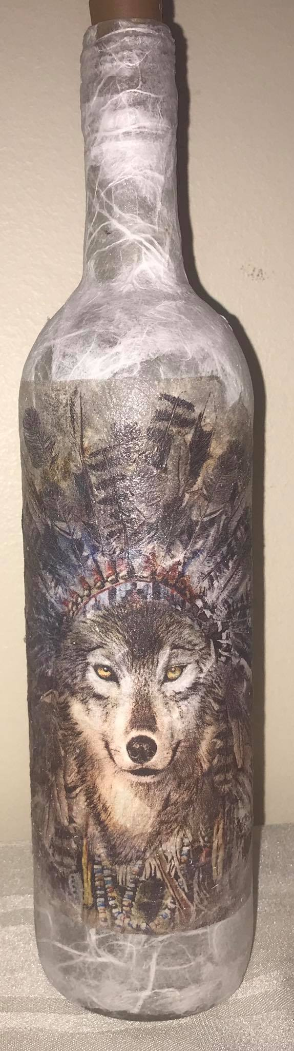 Wolf Light Up Bottle