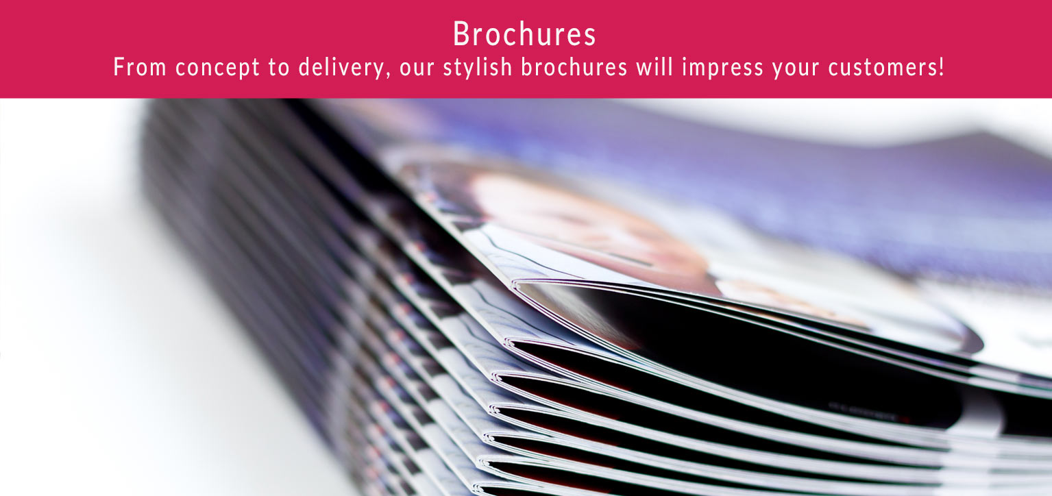 Stylish brochures that will impress your customers