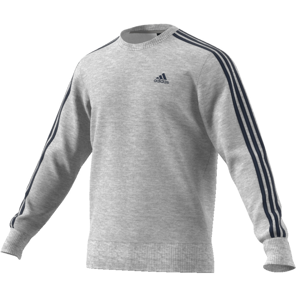 Adidas 3S Crew Top Heather Grey-Navy