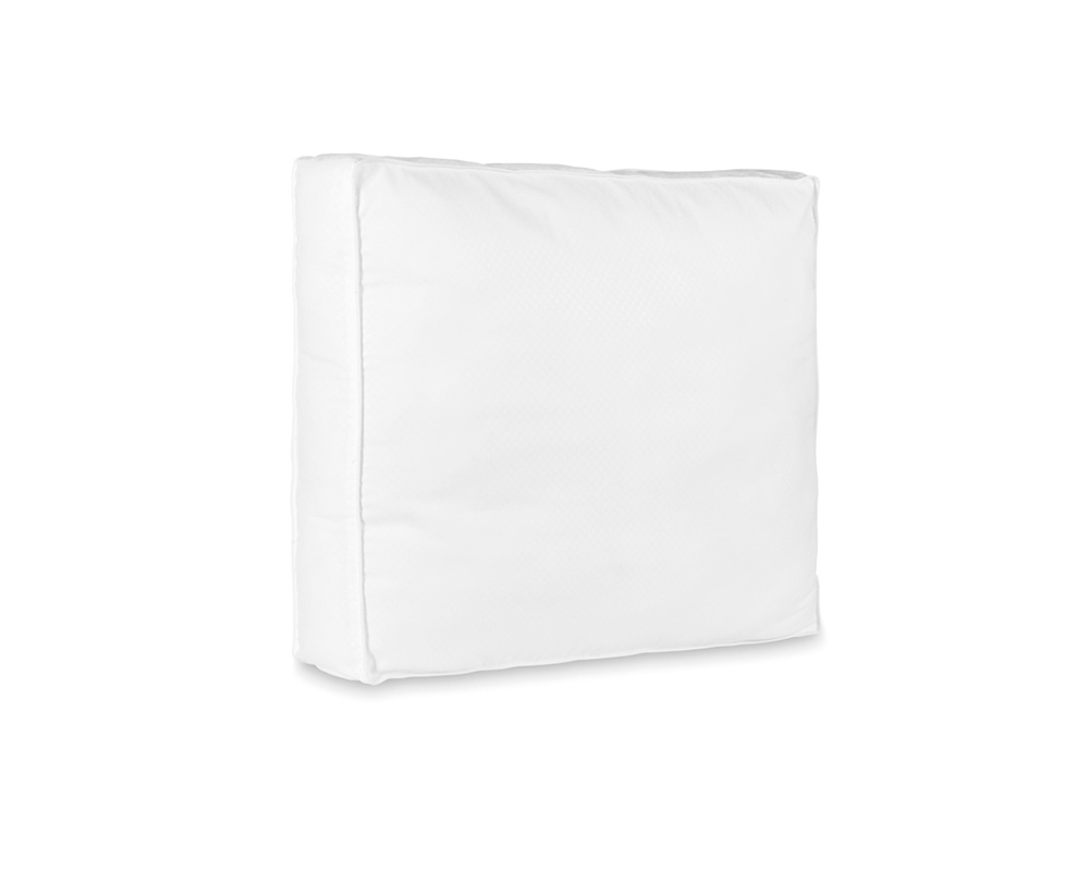 DOBBY DOT BOX PILLOW WHITE - 50 X 60 X 8 CM