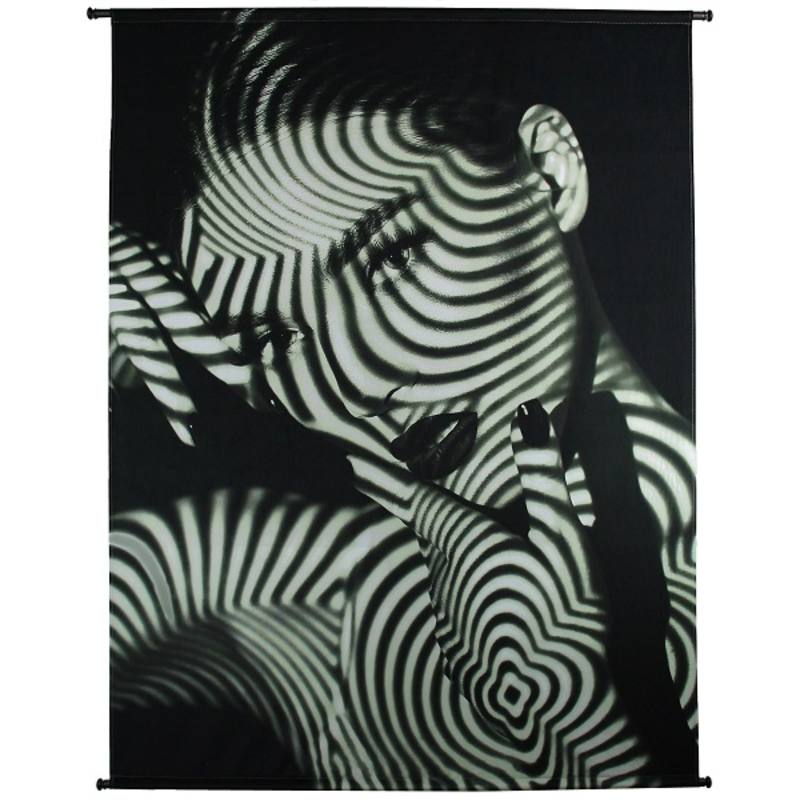 Wandpaneel, velvet, Lady Stripes Black 170x3x140 cm