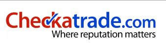 Checkatrade.com logo acting as a clickthrough for reviews about Oakdale Driveways