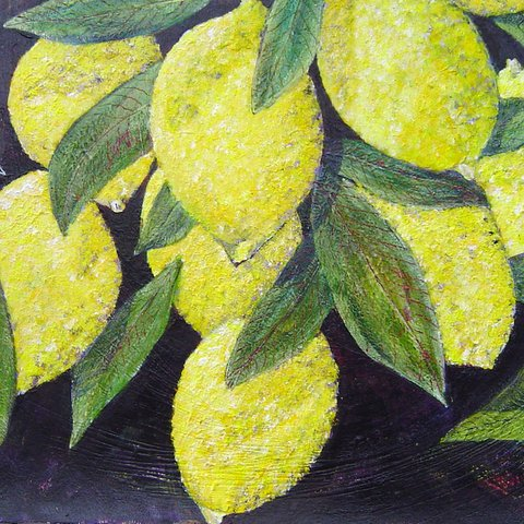 Painting of a lemon tree, selection of artist prints by contemporary Irish artist Mary Wallace