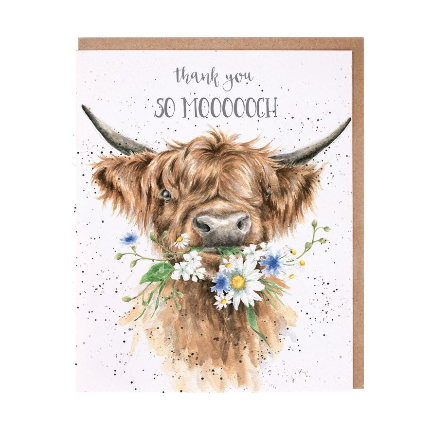 Wrendale 'Thank You So Moooch!' Greetings Card