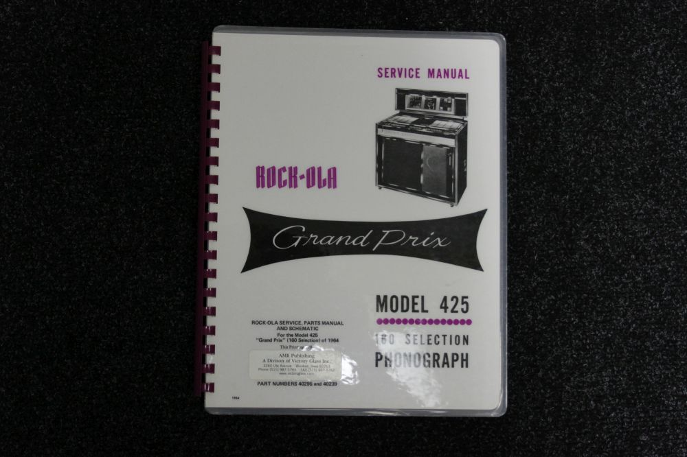 Rock-Ola Service Manual - Model 425
