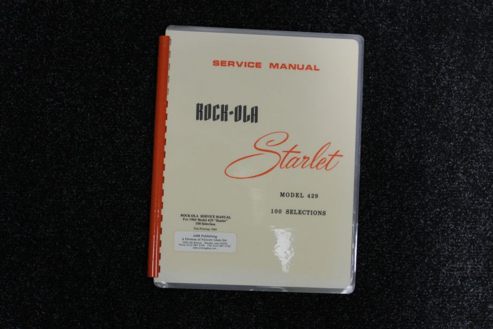 Rock-ola - Service Manual - Model 429 Starlet