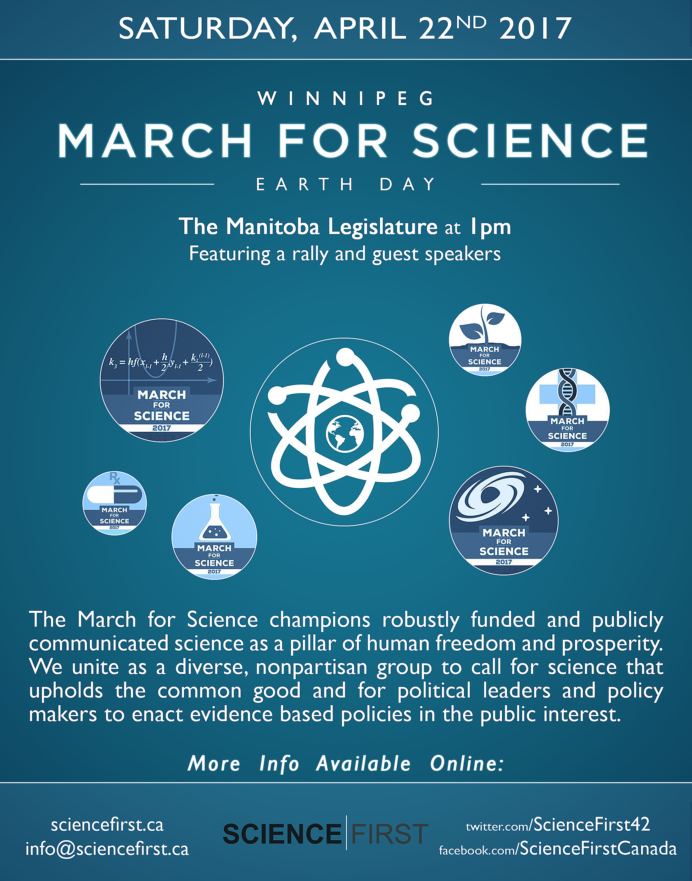 March For Science - Winnipeg - April 22nd, 2017