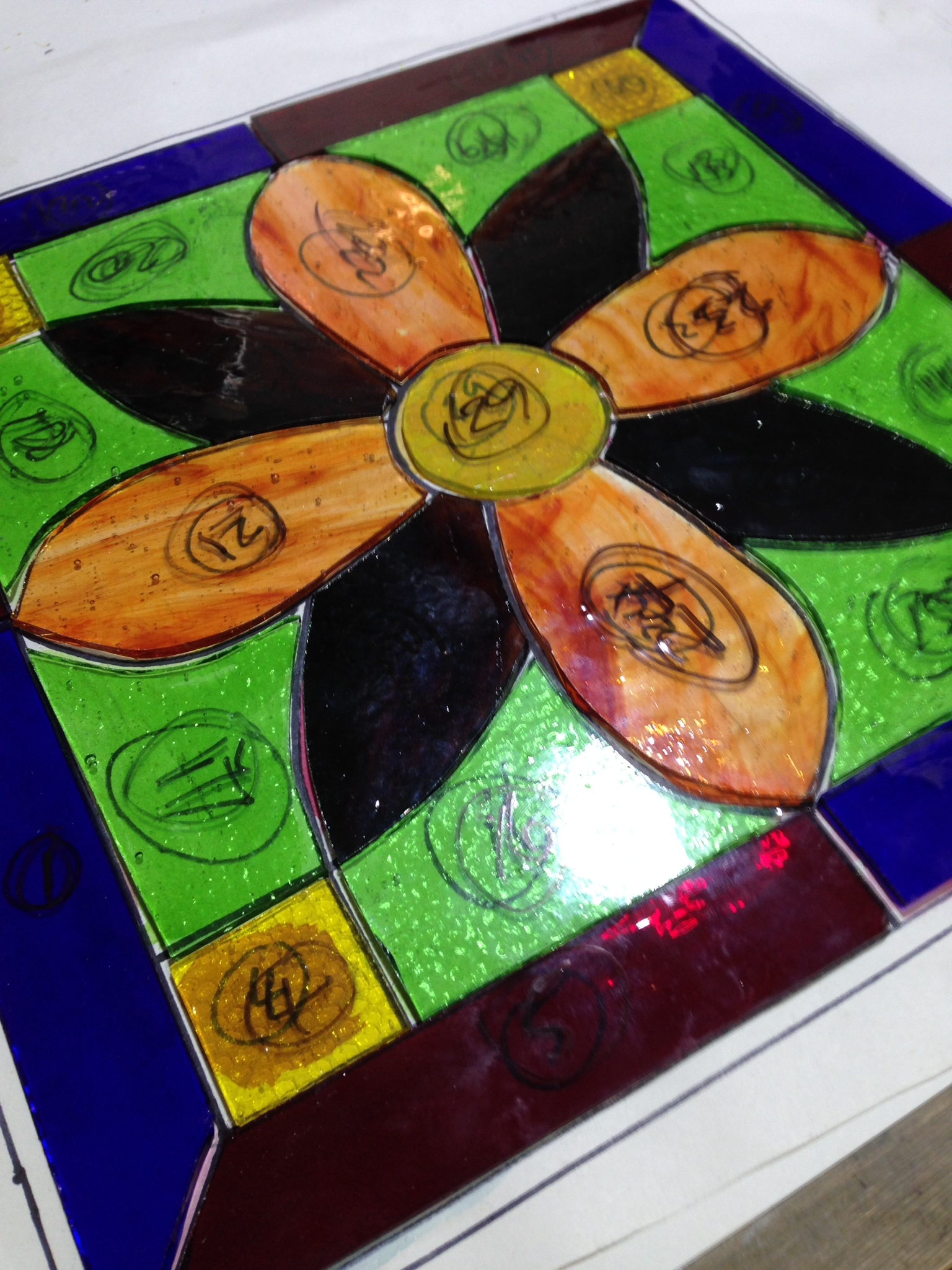 2 day stained glass workshop at crushed chilli gallery
