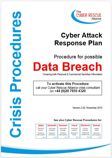 Cyber Rescue Data Breach Response Plan Crisis Procedures