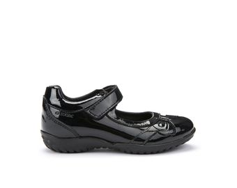 14637a6db1ef3 Girls school shoes. GEOX Shadow Black leather shoe £42; GEOX Gioia Black  leather £42-£46; GEOX Shadow Black patent leather £40 ...