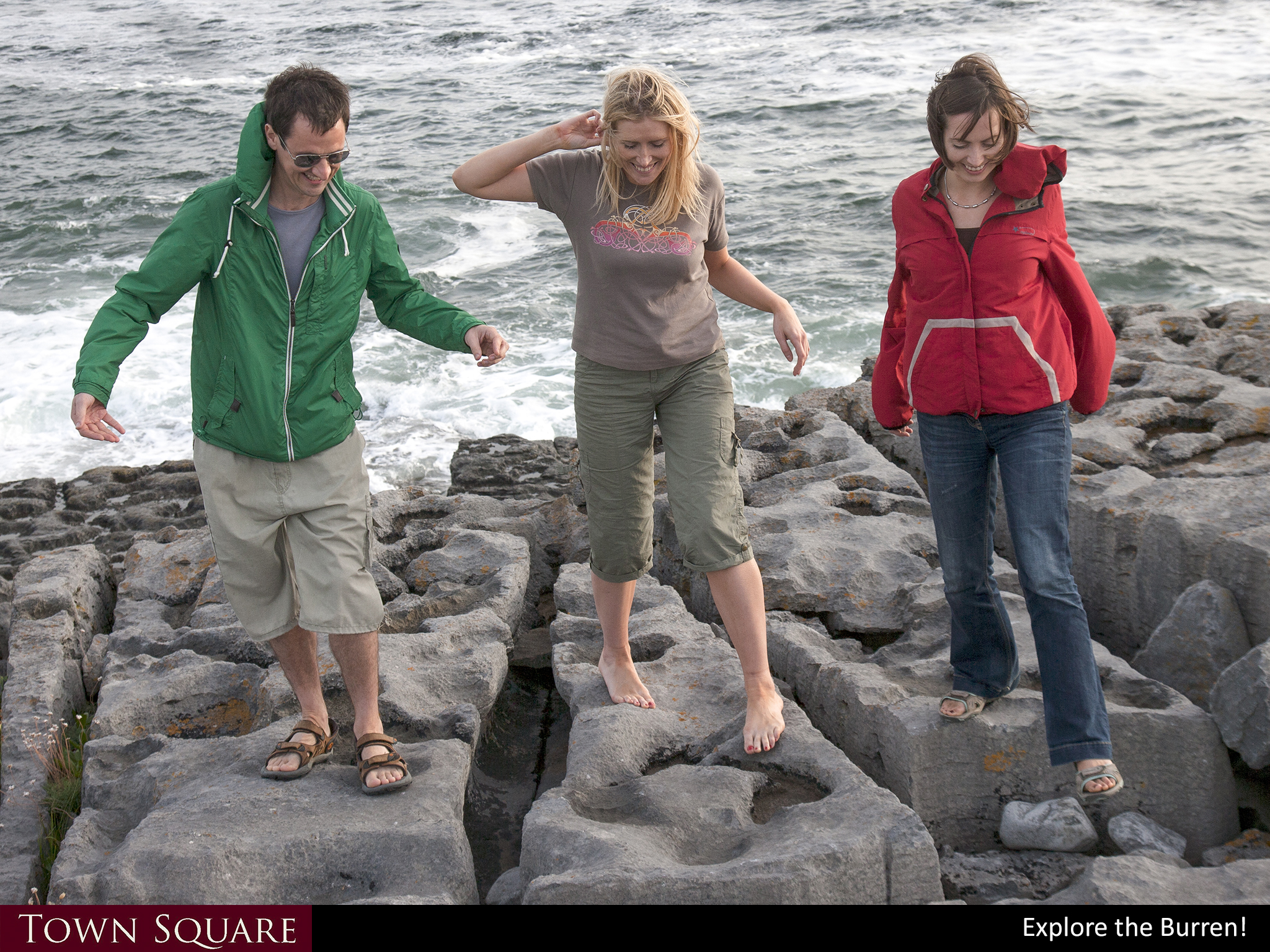 Explore the Burren limestone rocks!