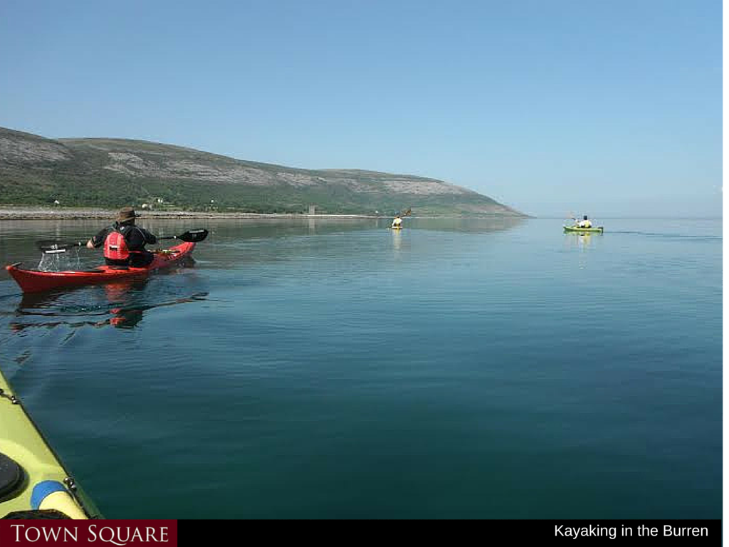 Kayaking near Bell Harbour, Ballyvaughan