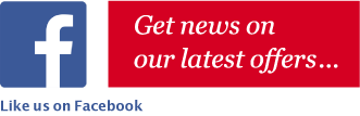 Get news on our latest offers.. Like us on Facebook