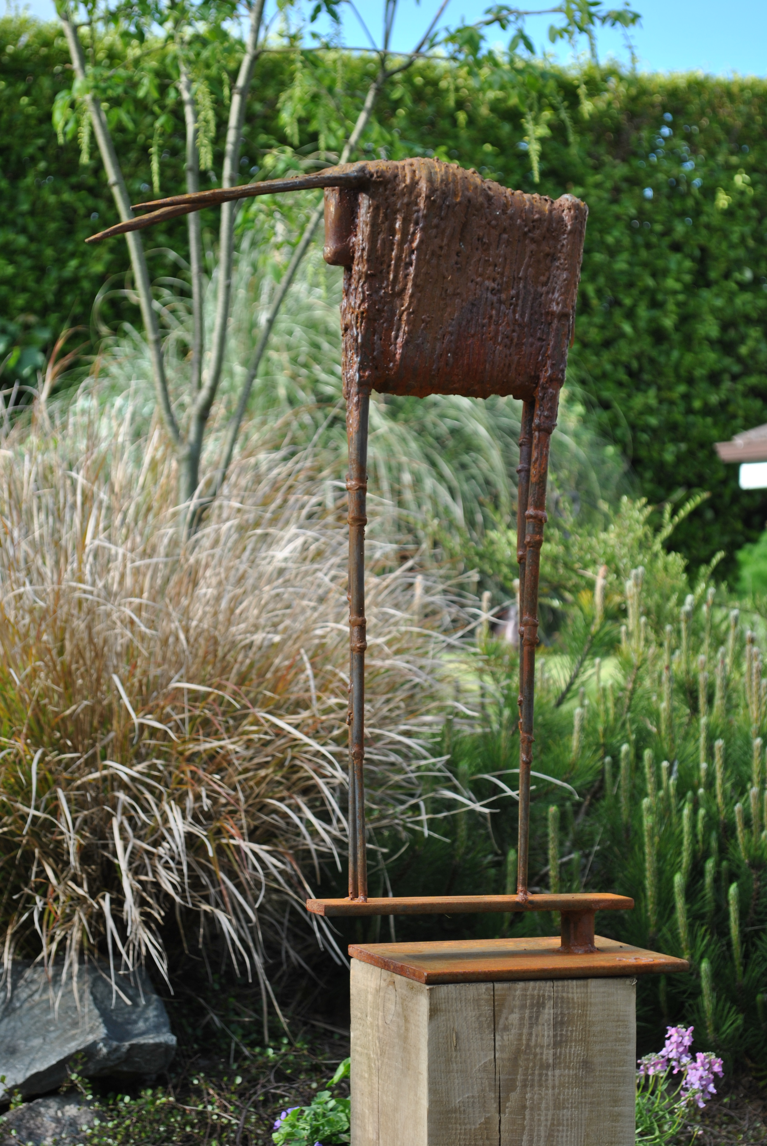garden sculpture, corten steel