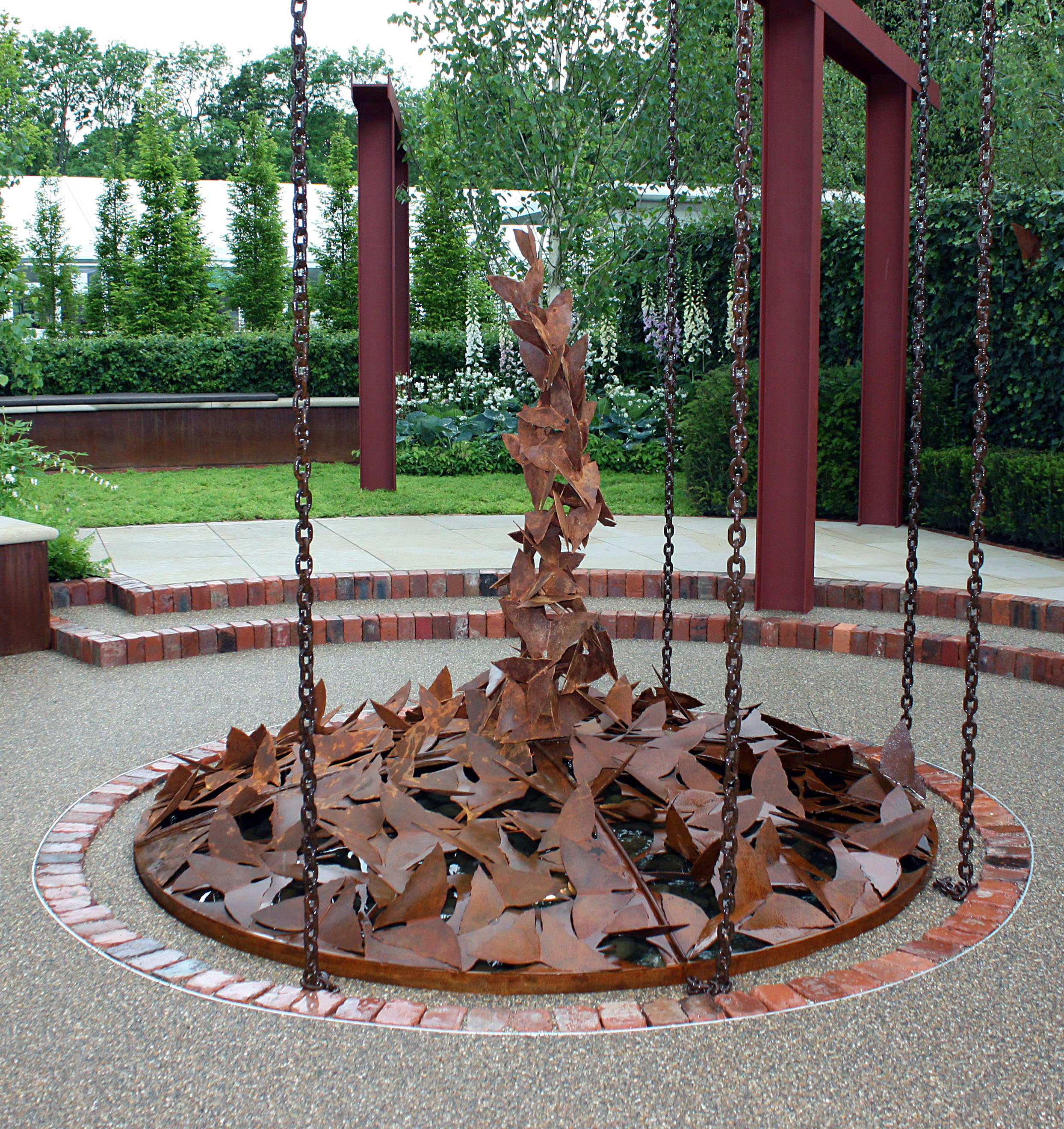 Garden Water feature, corten steel